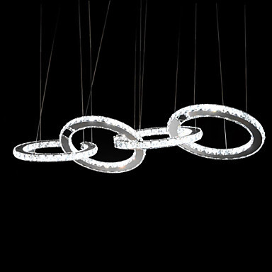 4ring 30+30+30+30cm Pendant Lights/ k9 Crystal Light/LED Modern/Contemporary Living Room/Dining Room/Kitchen/Study Room/Office modern fashion luxurious rectangle k9 crystal led e14 e12 6 heads pendant light for living room dining room bar deco 2239