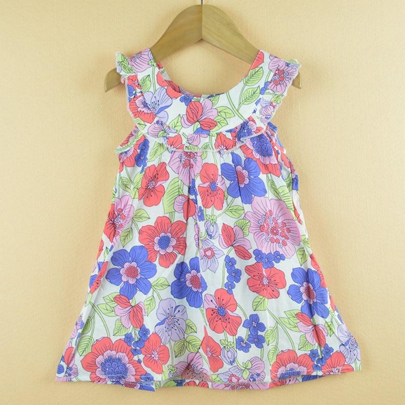 Discount Baby Designer Clothes | Girls Dress New Designer Cotton 2015 Summer Flower Child Clothing