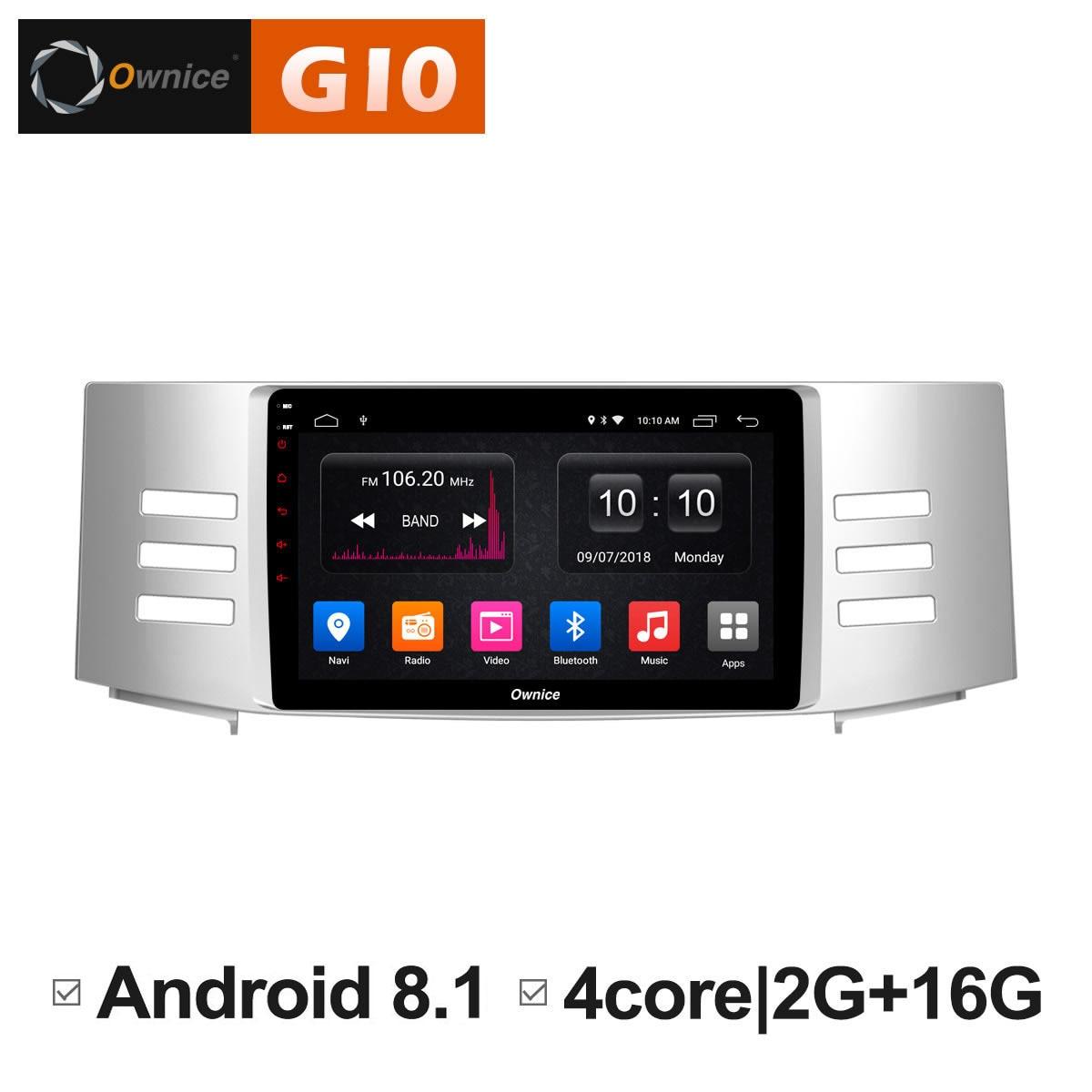 Android 8.1 car radio player GPS Navigation Intelligent System Multimedia for Toyota Reiz Mark X 2005 2006 2007 2008 2009 DVD PC недорго, оригинальная цена