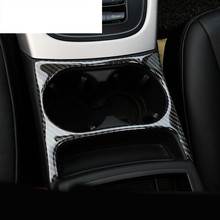 font b Car b font styling water cup holder frame cover trim strips Carbon Fiber