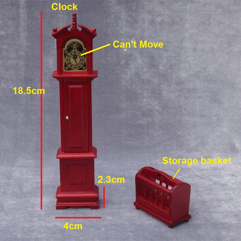 Floor Grandfather Tall Case Clock Miniature Dollhouse 1/12 Scale Wooden  2PCS In Doll Houses From Toys U0026 Hobbies On Aliexpress.com | Alibaba Group