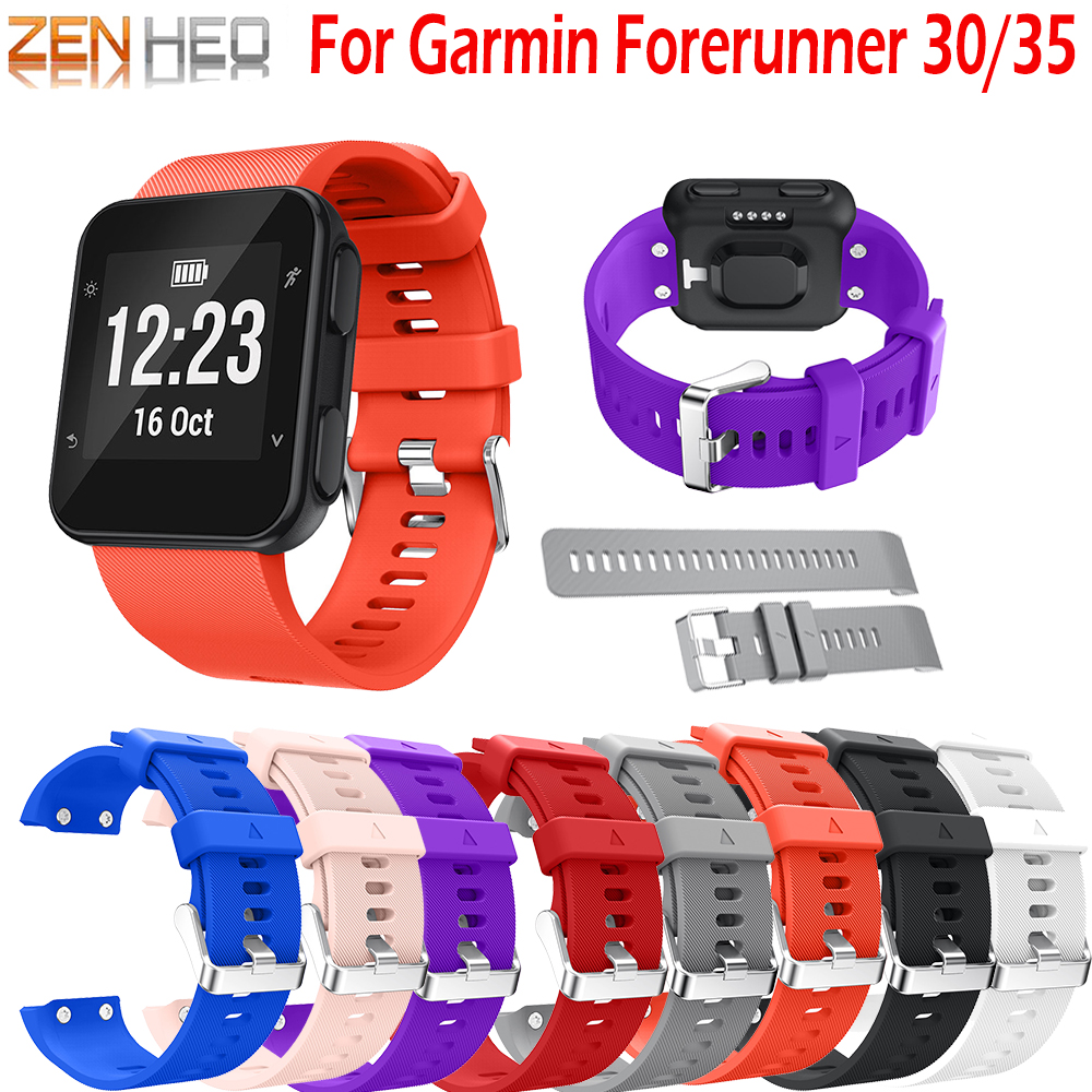 Watch Band Strap Bracelet For Garmin Forerunner 35 /30 Replacement Belt Wrist For Forerunner 30 /35 Bands With Tool Screws