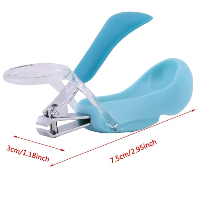 Children Pocket Finger Toe Nail Clipper With Magnifier Magnifying Glass for Babies Children & Adults Baby Manicurem Nail Care
