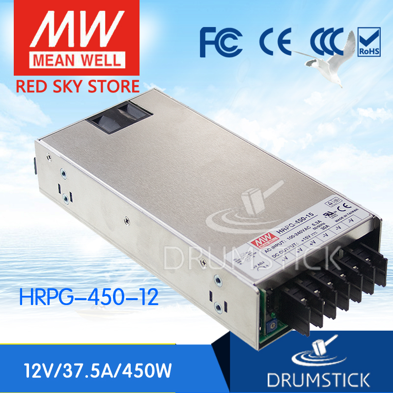 best-selling MEAN WELL HRPG-450-12 12V 37.5A meanwell HRPG-450 12V 450W Single Output with PFC Function  Power Supply [Real1] 1mean well original hrpg 450 5 5v 90a meanwell hrpg 450 5v 450w single output with pfc function power supply