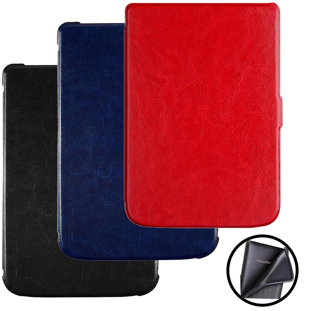 Ultra slim book Case Cover For PocketBook Touch Lux 4 (Model: PB 627)  eReader Soft Tpu Case flip good fit for PB 627