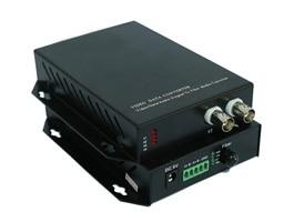2fiber Optic Analog Converter, 2ch Video With 1ch RS485 Data, Single-mode Single Fiber 20KM, FC Fiber Port