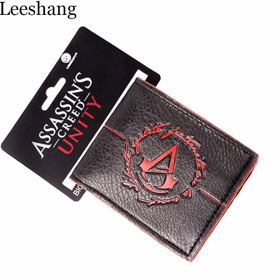 minimalist small purse assassins creed Assassins Creed Wallet : Man Wallet Leather With Coin Pocket