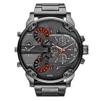 2017 Nova Moda De Luxo Relógio de Aço Inoxidável dos homens Do Esporte Analógico Quartz Mens relógio de Pulso relogio masculino