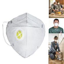 50 шт складной нетканый с клапаном безопасности Анти-пыль активированный уголь Твердые лицо, Респиратор маска промышленный респиратор