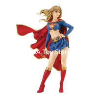 DC Justice League Bishoujo Figure Supergirl Returns Action Figure Toy Collection Model Brinquedos 21CM Retial Box