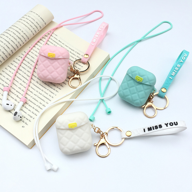 Fashion Headphone Case for <font><b>AirPods</b></font> 2 3 <font><b>i30</b></font> <font><b>TWS</b></font> Portable Earbuds Pouch box Earphone Storage Bag Protective Organizer For <font><b>Airpods</b></font> image