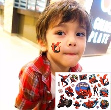 Amazing Spidey Child Love Temporary Body Art Toys, Flash Tattoo Sticker 17*10cm, Birthday Xmas Baby Shower Party Gift