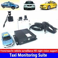 Voor/achter/in-voertuig surveillance HD nachtzicht ondersteuning taxi monitoring kit Prive auto/beton auto /zware machines