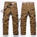 Мужская повседневная брюки комбинезоны мужские военные многофункциональные Карманные брюки высокое качество плюс размер 28-40