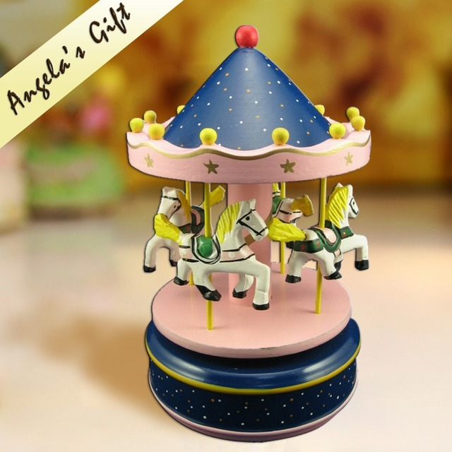 carousel music boxmerry go around christmas decoration wooden music box - Christmas Carousel Decoration