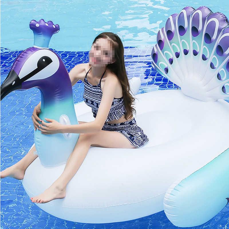 150 см гигантский надувной фламинго Павлин бассейн надувной лебедь-на плавательный кольцо водный матрас вечерние игрушки Piscina Boia