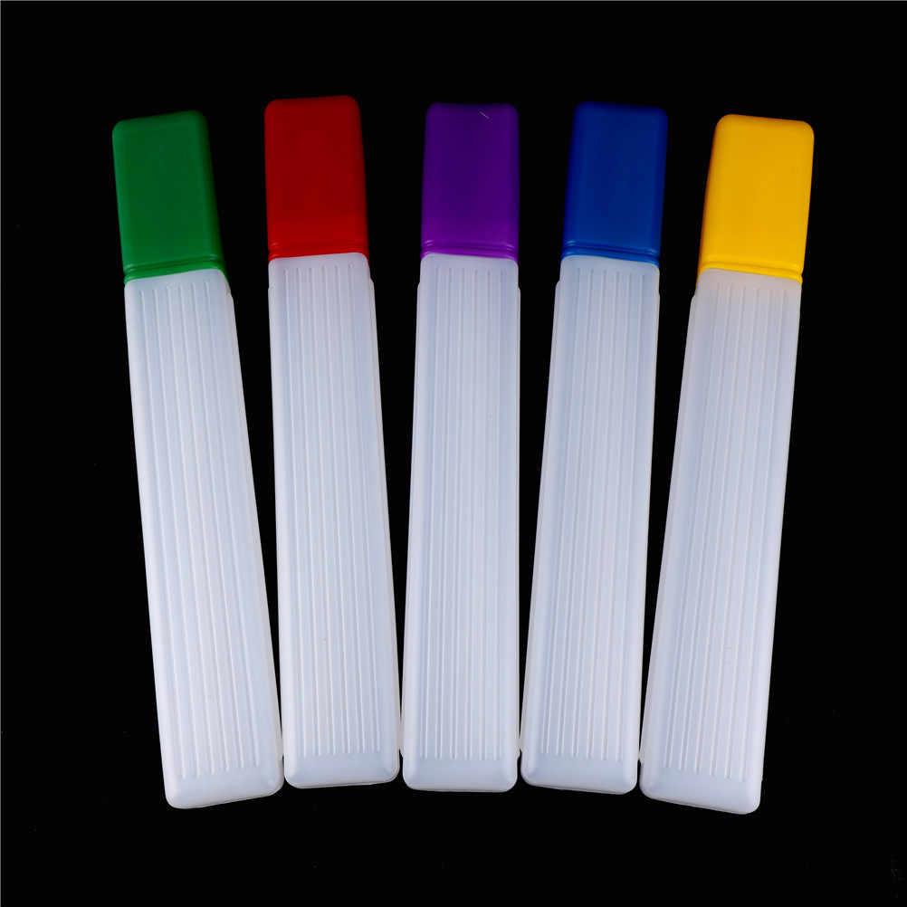 Multi-função caixa aleatória 1pc colorido plástico tricô agulhas caixa de armazenamento casa ferramentas organizador