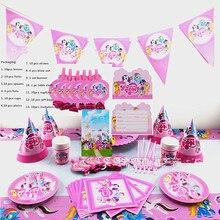 10 người Chất Lượng New arrival little pony chúc mừng sinh nhật Party Trang Trí Set Banner Khăn Trải Bàn Túi Quà Lời Mời Nguồn Cung Cấp Thẻ