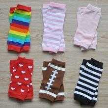 9-дюймовый новорожденных гетры хлопок детские красочные в полоску гетры Носки митенки 10 стилей