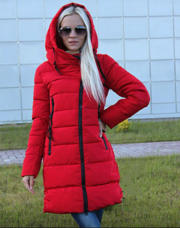 New 2016 Autumn Winter parkas Hooded Thickening Jacket Women Warm Outerwear Solid Long Coat XZM164