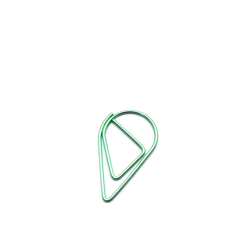 40Pcs Lot Novelty Drop Design Paper Clips Kawaii Office Clamp Documents Organizor Marking Binding Clips School Students Bookmark in Clips from Office School Supplies