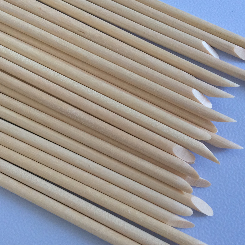 Nützliche Orange Holz Sticks 50 teile / los Nagelhautschieber - Nagel Kunst - Foto 5