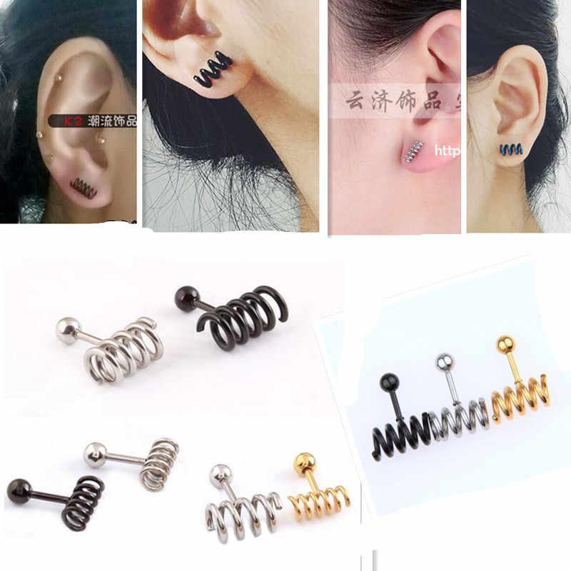 b5610e77a ... New Stainless steel Prevent allergy Men Jewelry titanium girls HOT  earrings stud earring Spring ear nail ...