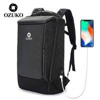 Business Backpack Men USB Waterproof Oxford Computer Travel Bag Black Fashion Anti Theft Laptop Backpack Wholesale