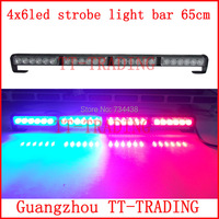 Car Strobe Lights 24 LED vehicle Flash lights Police strobe Light emergency warning light DC12V RED BLUE WHITE AMBER
