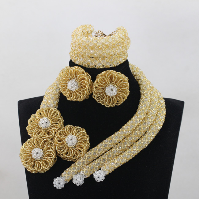 Champagne Crystal Wedding African Beads Unique Jewelry Sets Indian Handmade Jewelry Bridemaid Jewelry Sets Free ShippingABL993Champagne Crystal Wedding African Beads Unique Jewelry Sets Indian Handmade Jewelry Bridemaid Jewelry Sets Free ShippingABL993