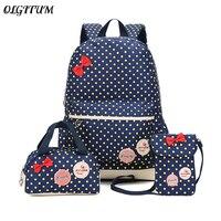 644c1b805275a Bow Children Cute Backpack 3 Pcs Sets Polka Dot Print Backpack Crossbody  Bag Big Capacity Female. US $14.99 US $12.74. Yay Çocuk Sevimli Sırt Çantası  ...
