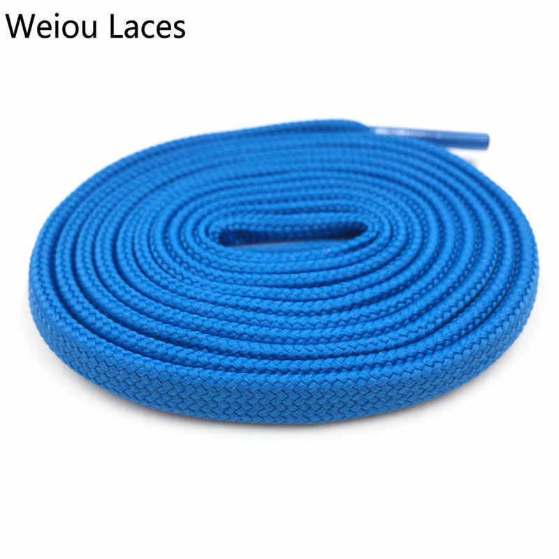 Weiou CBRL แบน 7 มม. ท่อ Laces น่ากลัว Lacet Novelty ที่กำหนดเองสี Shoelaces ริบบิ้น Hollow Shoestring กีฬา Bootlaces