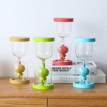 New 3D Design Wood Hourglass Security Sandglass Countdown Timing Sand Clock Desktop Home Decor Reloj de arena