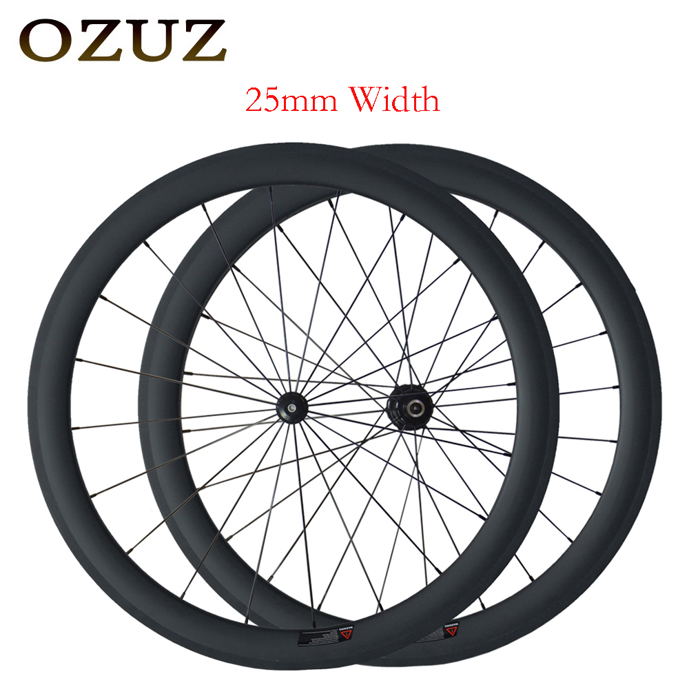 Mix hub V brake 25mm width straight pull wheels 50mm clincher road carbon wheelset clincher super