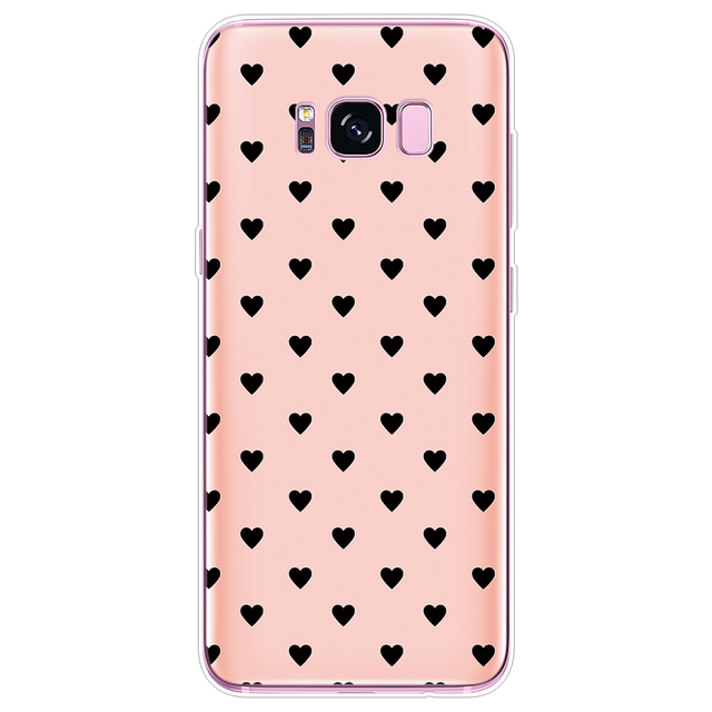 Heart Cover For Samsung Galaxy S8 J7 Prime J2 J3 J5 S7 Edge S9 S10 Plus A30 A50 A6 Note 8 9 2016 2017 2018 Transparent TPU Case