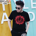3XL 4XL 5XL 6XL Plus Size Mens Tshirt Fashion 2016 Summer Cotton Casual 	Asian Clothes For Men 832