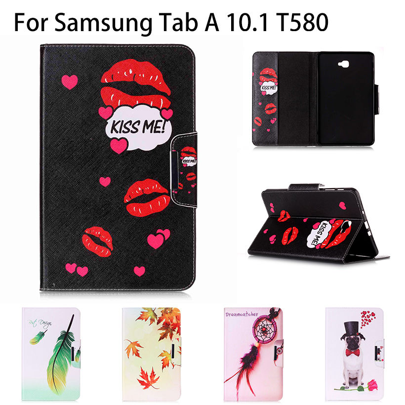 Fashion PU Leather Case For Samsung Galaxy Tab A A6 10.1 2016 T580 T585 T580N SM-T580 Case Cover Tablet Book high quality Funda аксессуар чехол samsung galaxy tab a 7 sm t285 sm t280 it baggage мультистенд black itssgta74 1