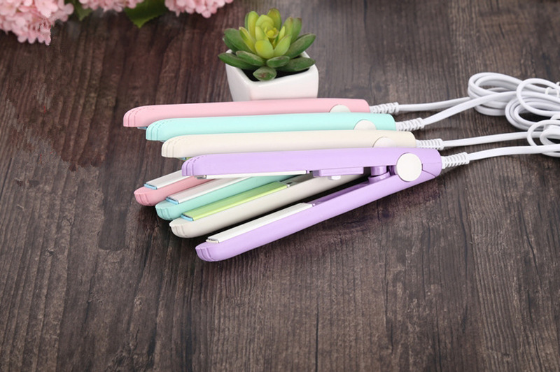Professional Electric Hair Straightener Portable Mini Straight Hair Clip Iron Fast Ceramic Dry Wet Hair Straightener professional electric hair straightener plat iron anion steaming dry wet use hair straightner curler styling tool