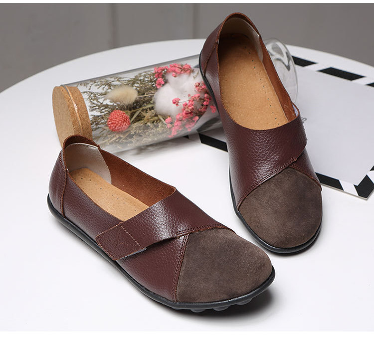 AH 1987-2019 Spring Autumn Women's Shoes Genuine Leather Woman Loafers-4