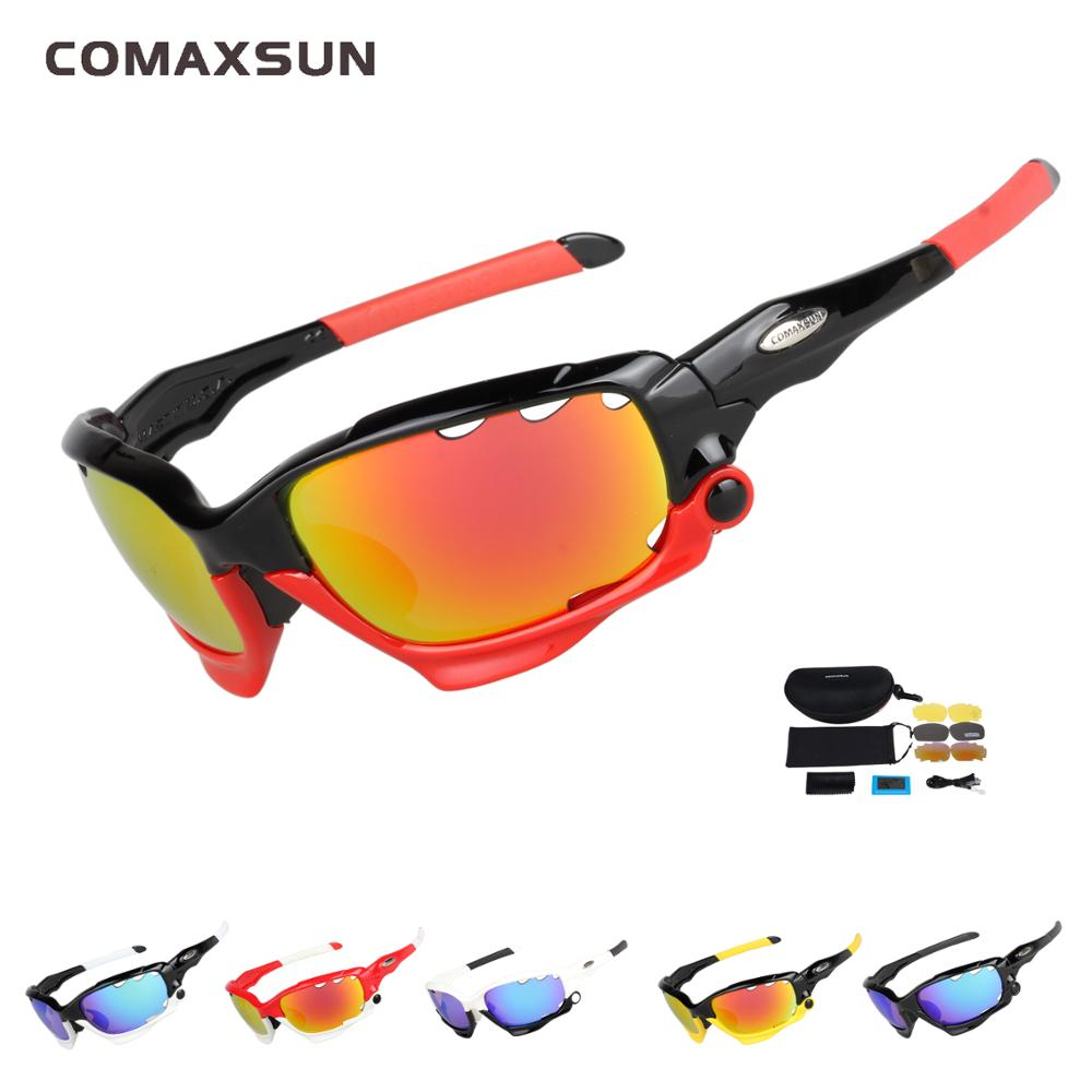 d2d01bb52420 COMAXSUN 6 Color Fishing Outdoor Sports Sunglasses Professional Polarized  Cycling