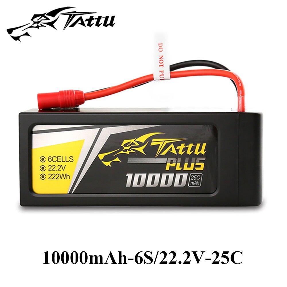 TATTU Lipo Batterie 10000 mah 6 s 22.2 v 22.8 v HV Plus Batteries 15C 25C Custome Plug pour S900 s1000 UAV Axe Drone