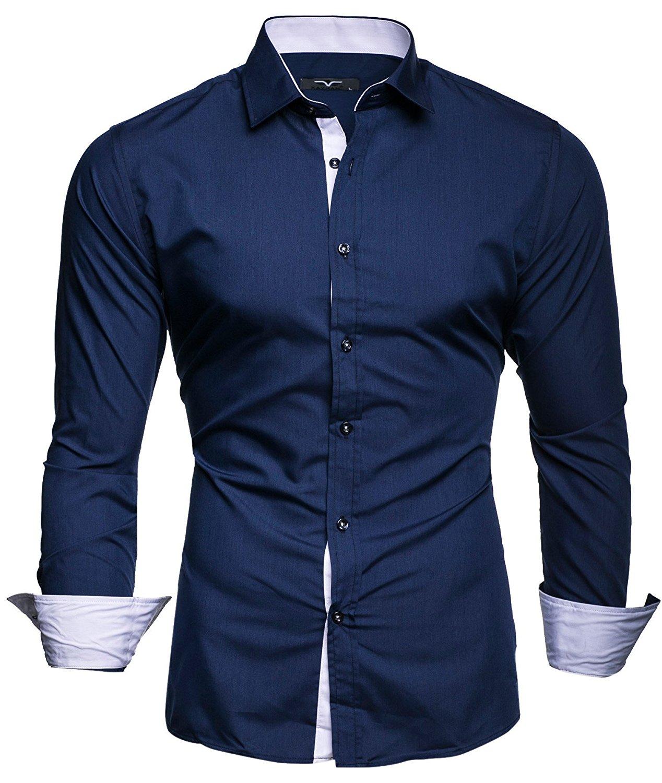 Men Shirt Brand Male High Quality Long Sleeve Shirts Casual Slim Fit Black Man Dress Shirts Plus Size 4xl Cs39