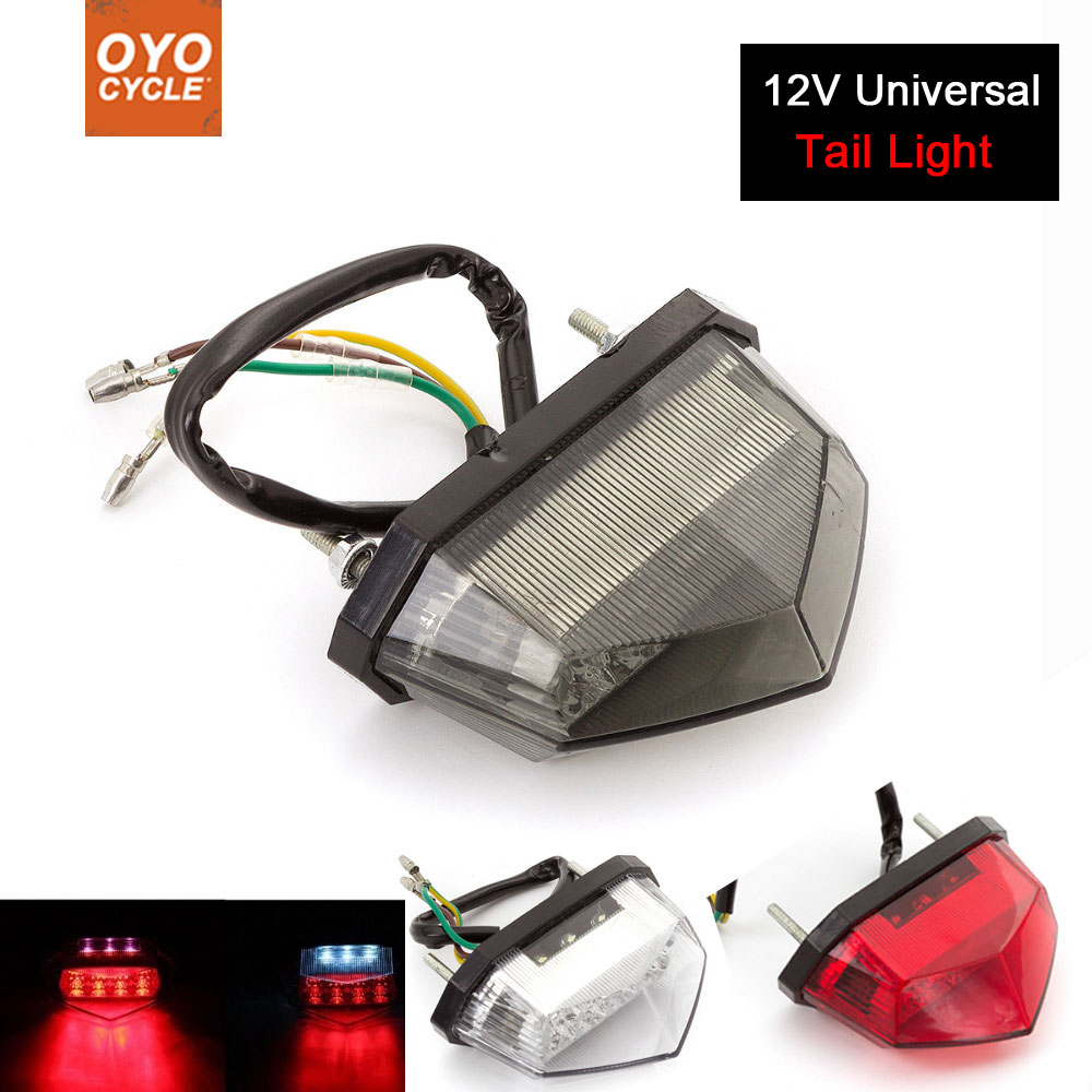 Motorcycle 12V Tail Light Motos Led Stop Signal Lamp Motorbike Light For Yamaha YZF R1 R3 R6 MT 07 09 R125 250 450 fz6 fz1 xj6Motorcycle 12V Tail Light Motos Led Stop Signal Lamp Motorbike Light For Yamaha YZF R1 R3 R6 MT 07 09 R125 250 450 fz6 fz1 xj6
