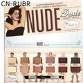 CN-RUBR 12 Colores Paleta de Sombra de Ojos Mate Shimmer Profesional Con el Cepillo del Maquillaje Kit Paleta de Sombra de Ojos Cálidos Neutral
