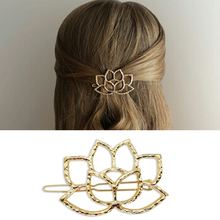 European and American ruili fashion Golden hollow out beautiful lady bride lotus hairpin hair accessories