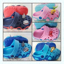 2016 Kids 3D Giraffe Shark Mermaid Bowknot Cartoon Sandals Slippers Boys Girls Garden EVA Clogs Shoes