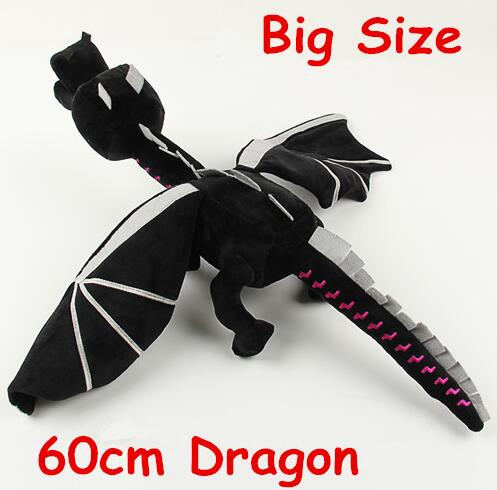 Hot selling 60cm font b Minecraft b font Ender Dragon Plush Doll Soft Black font b