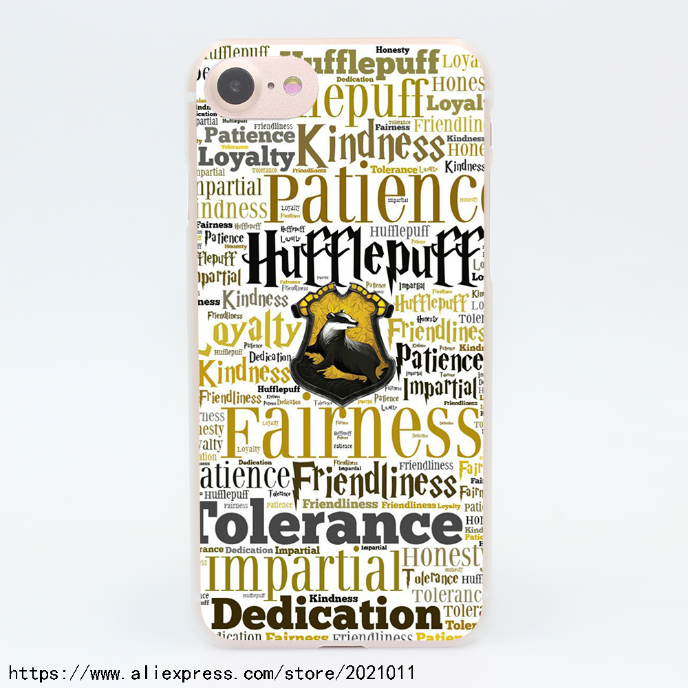 911X Hufflepuff Hogwarts Harry Potter Hard Transparent Case for iPhone 7 7 Plus 6 6S Plus 5 5S SE 5C 4 4S
