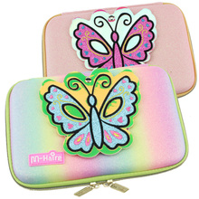 3D eva pencil box girl bag gold powder mirror writing case lovely butterfly large pen colorful cartoon girls