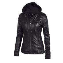 Telotuny европейский и американский стиль тонкий с капюшоном Женское пальто осенняя куртка для женщин кожаная женская куртка JL 25